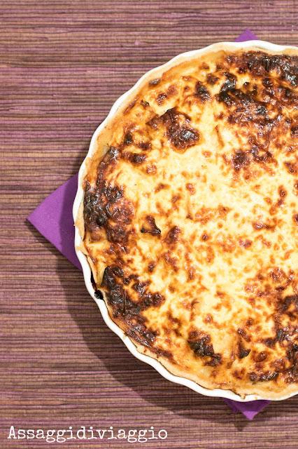 Quiche di patate, mele, cipolle e gruyère