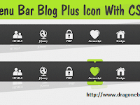 Membuat Menu Bar Blog Plus Icon With CSS