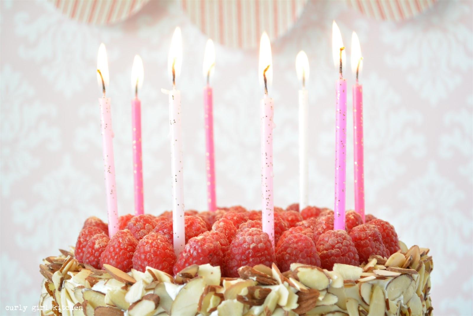 Curly Girl Kitchen Almond Raspberry Birthday Cake