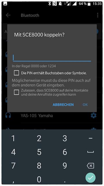 zur Verbindung des Handys mit dem eBike fragt die Shimano-App nach einem Passwort.