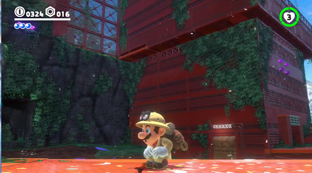 Super Mario Odyssey explorer costume idle animation