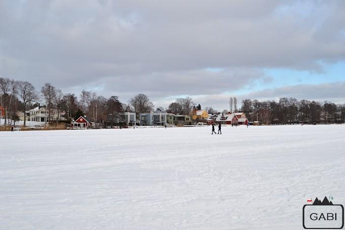Älvsjö - spacer po zamarzniętym jeziorze