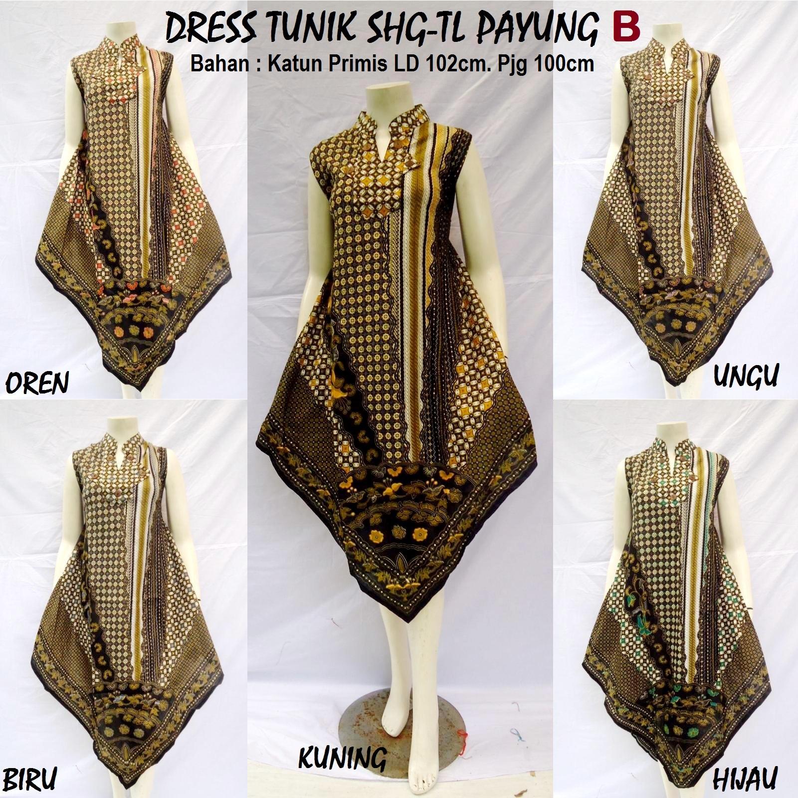 Produksi dan menjual grosireceran baju batik jadi DRESS TUNIK