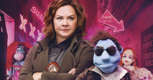"Puppet Say What?: Human cast and puppeteers bring ribald commitment to scattershot ""Happytime Murders"""