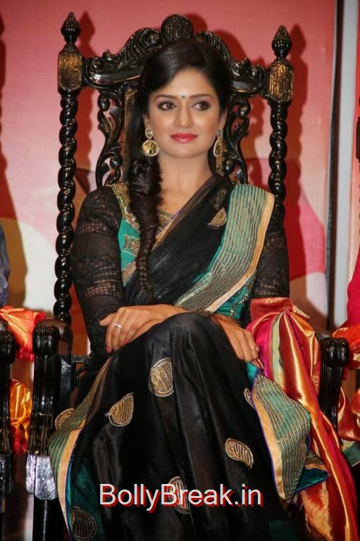 Vimala Raman Photo Gallery, Vimala Raman Hot HD Pics in Black Saree from Young India Awards