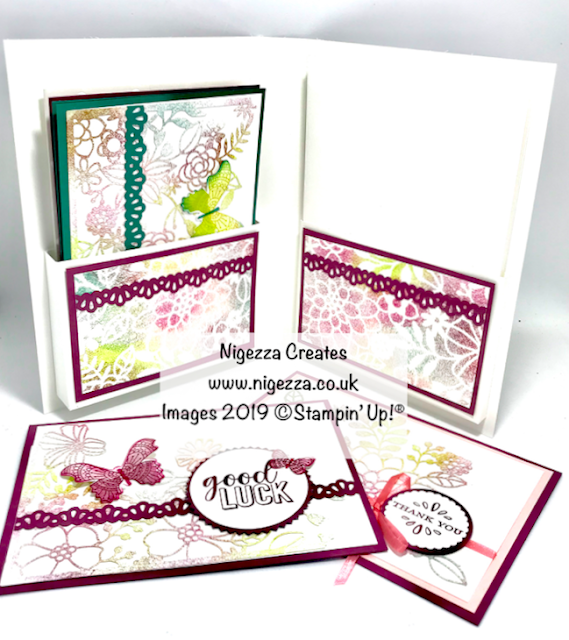 Book Style Card Gift Folder Nigezza Creates Stampin' Up! Delicately Detailed Laser Cut Paper