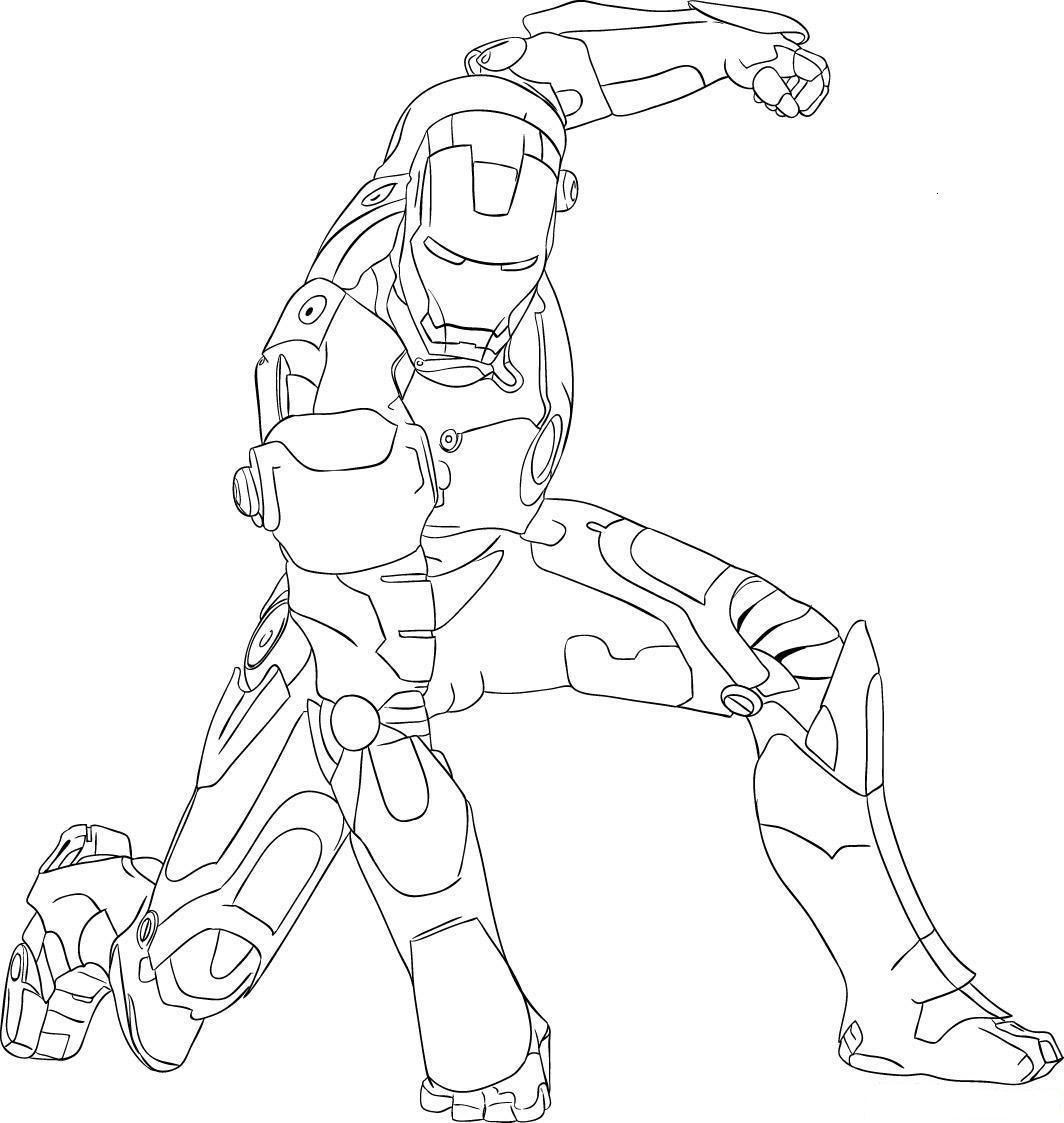 Colorea tus dibujos iron man golpeando el suelo para for Ironman coloring page