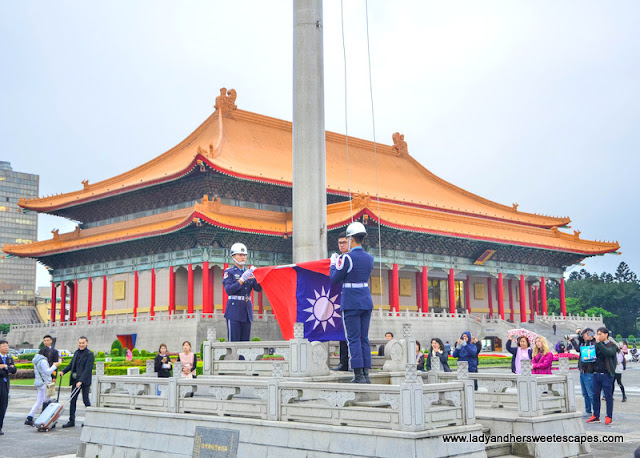 Flag Lowering Ceremony in Taipei, Taiwan