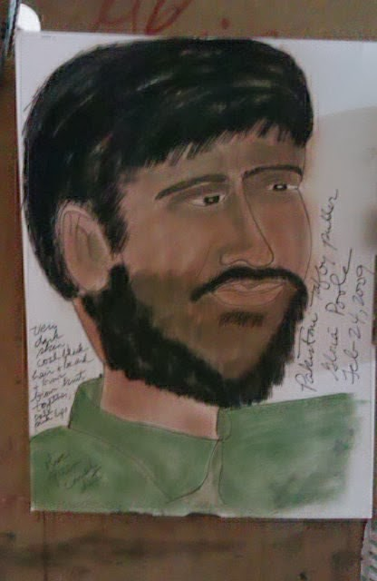 """Pakistani Taffy-Puller, ethnic sketch by Gloria Poole"