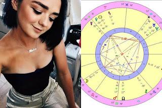 Wiki Maisie Williams aka Arya Stark birth chart