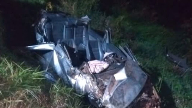 Jovem morreu em capotamento na avenida Mário Covas' (Foto: Reprodução/Grupo Ocorrência 24 horas)