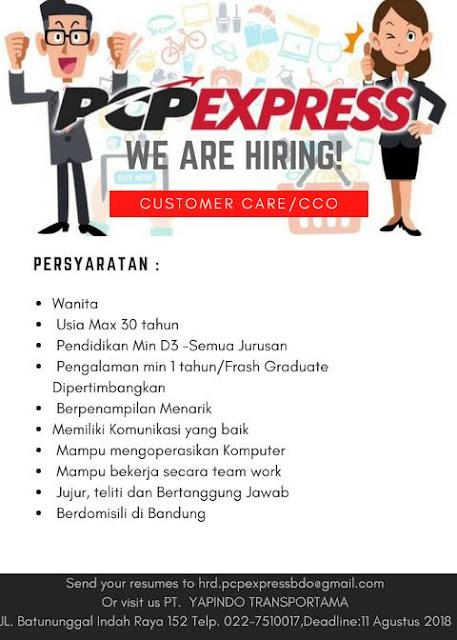 Lowongan Kerja PCP Express di Bandung