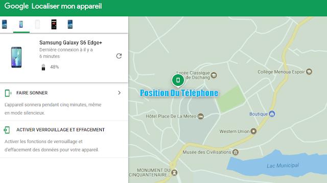 Localiser un android avec Google