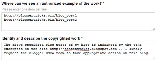 google dmca copyright infringement