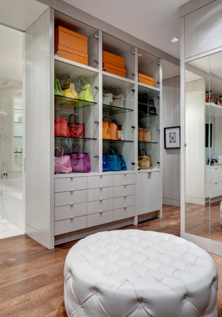 How To Turn A Walk-In Closet Into A Glamorous Dressing Room
