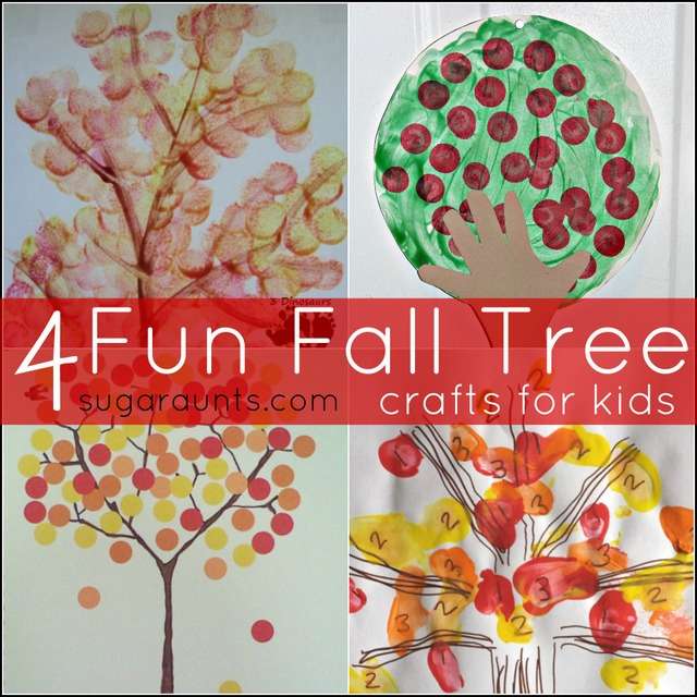 Tree crafts for kids this Fall