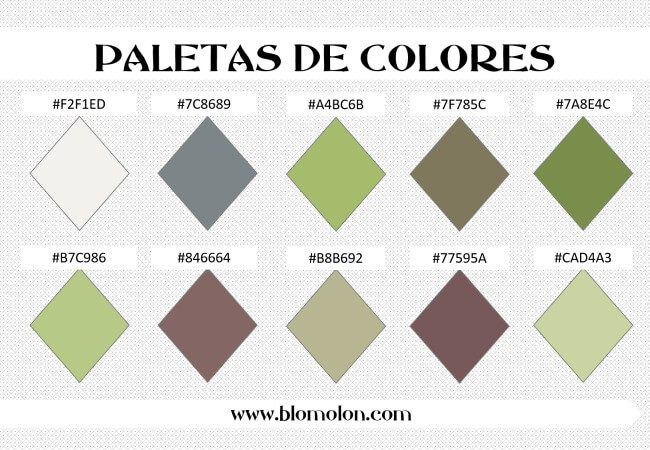 paleta de colores 4 combinaciones