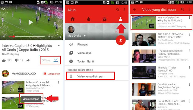 Cara Menonton Video Youtube Offline Di Android
