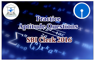 SBI Clerk 2016- Practice Aptitude Questions (Data Interpretation)