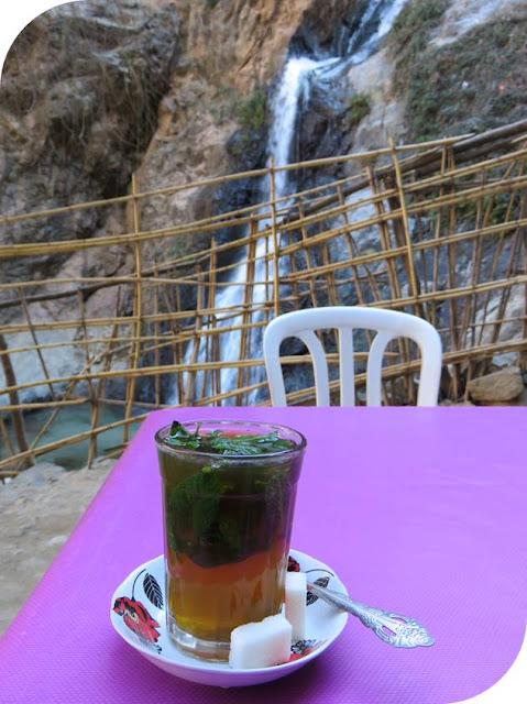 Long Weekend in Marrakech - Sidewalk Safari - Tea by the Cascades de l'Ourika