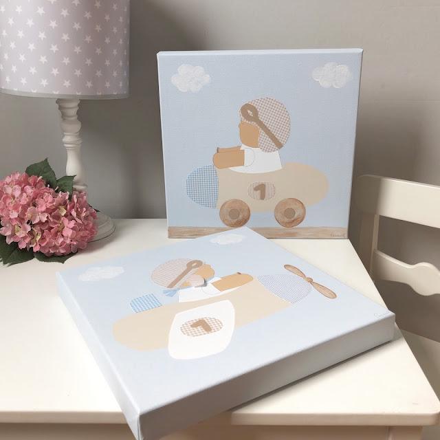 Cuadros infantiles personalizados para bebés y niños