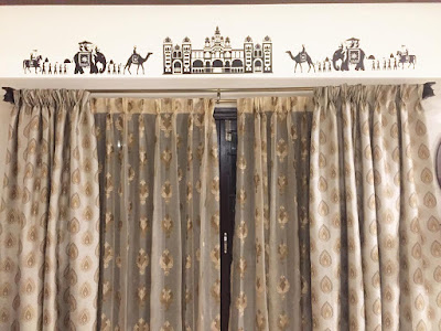 Actual installation photograph: Mysore palace procession wall decal