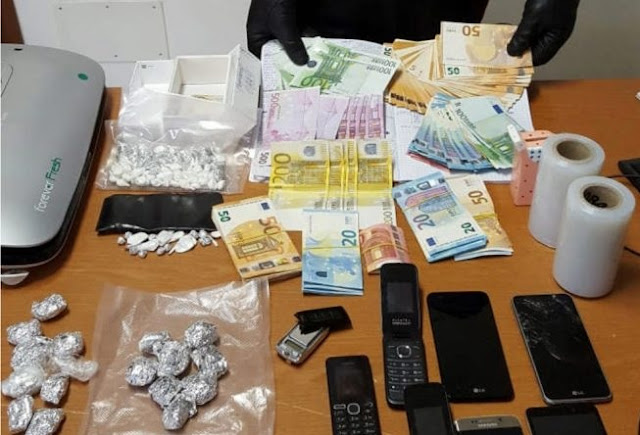 29-year old Albanian arrested after is cought with cocaine and 16 thousand euros