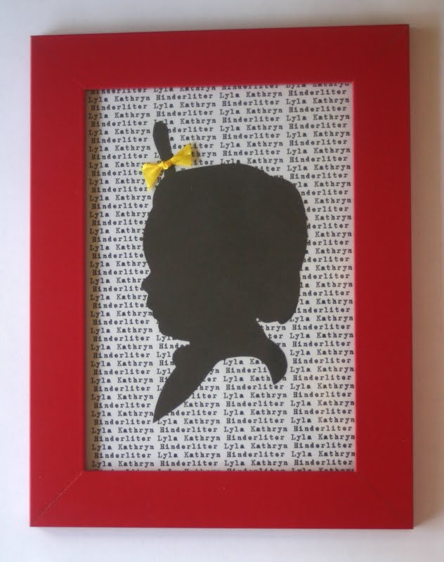 Make Your Own Silhouettes of Your Kids - Lines Across