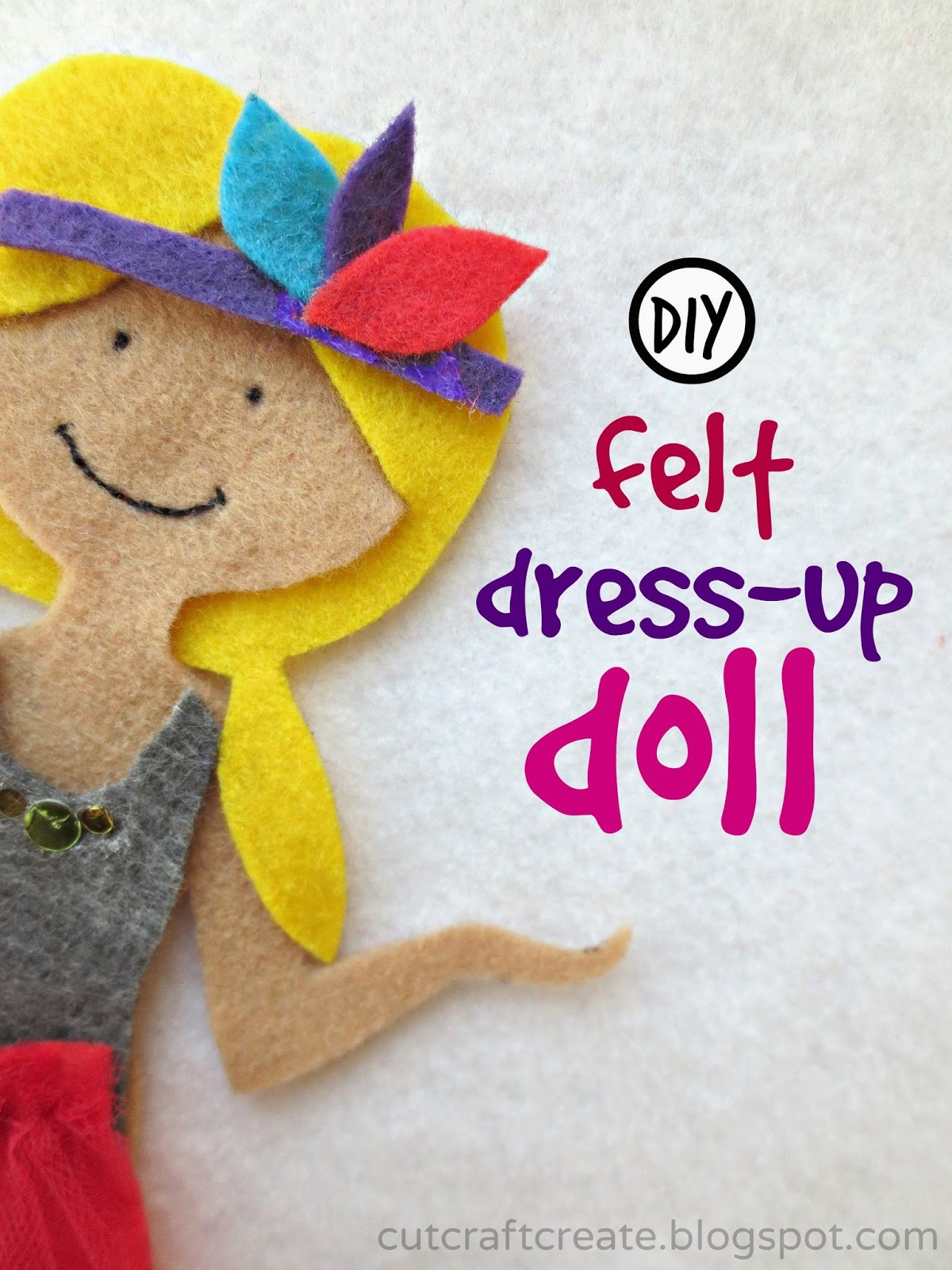 Cut craft create diy felt dress up doll for Felt dress up doll template