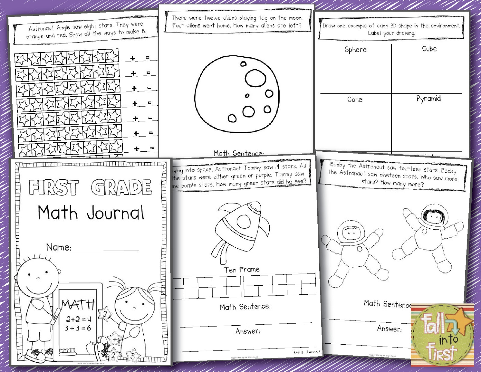 small resolution of Fall Into First: First Grade CORE Math Units