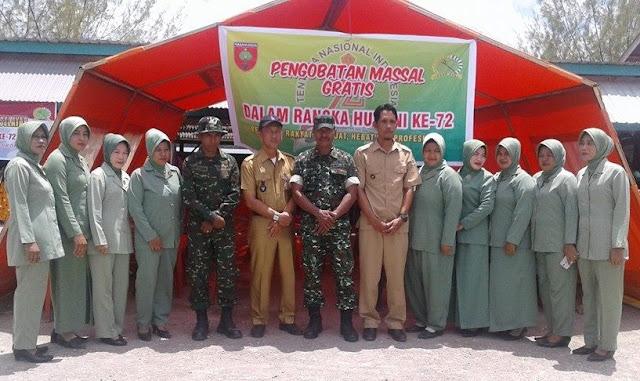 Memeriahkan HUT TNI Ke 72, Kodim 1415 Kep.Selayar, Buka Pengobatan Massal dan Bazar Murah