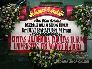 bunga papan civitas akademika fakultas hukum trunojoyo madura