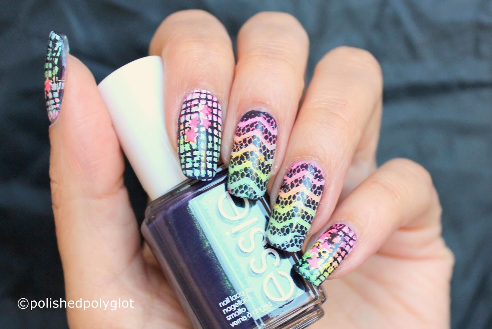 Nail Art │ Neon Rainbow Nail Design [26 Great Nail Art Ideas ...