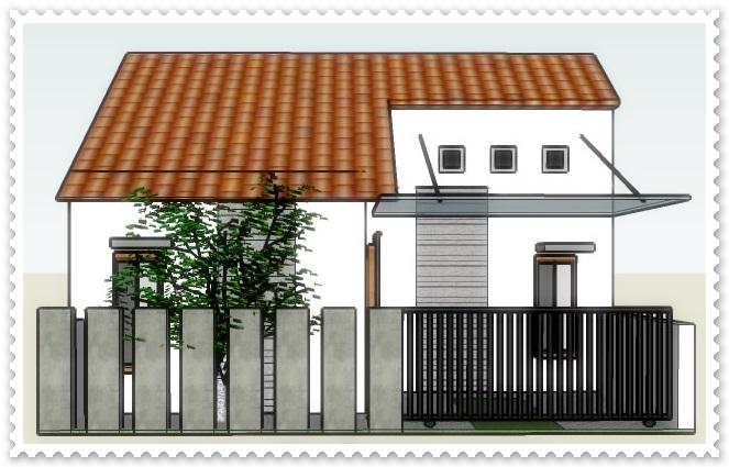 gambar pagar rumah minimalis type 36