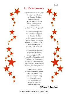 Poesie Di Natale Per Bambini Da Stampare.Poesie Di Natale Lo Zampognaro Di Gianni Rodari Tutto Da Stampare