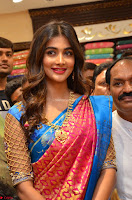Puja Hegde looks stunning in Red saree at launch of Anutex shopping mall ~ Celebrities Galleries 015.JPG