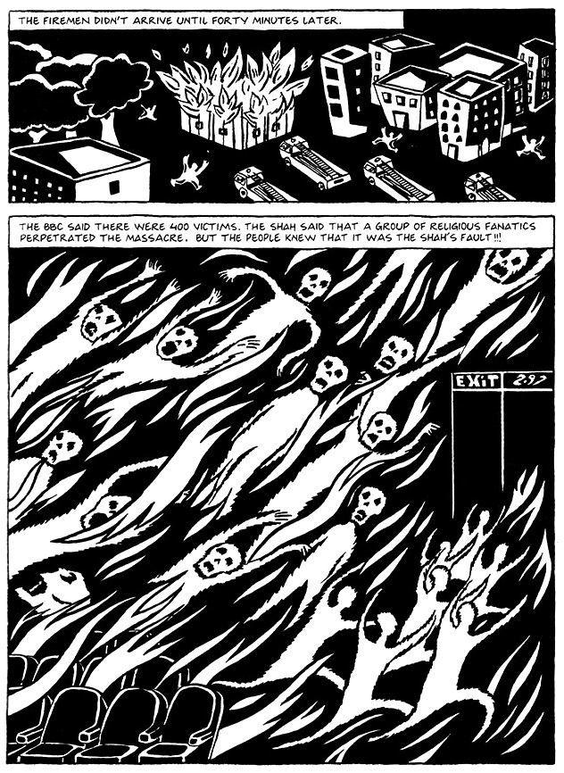 Read Chapter 2 - The Bicycle, page 13, from Marjane Satrapi's Persepolis 1 - The Story of a Childhood