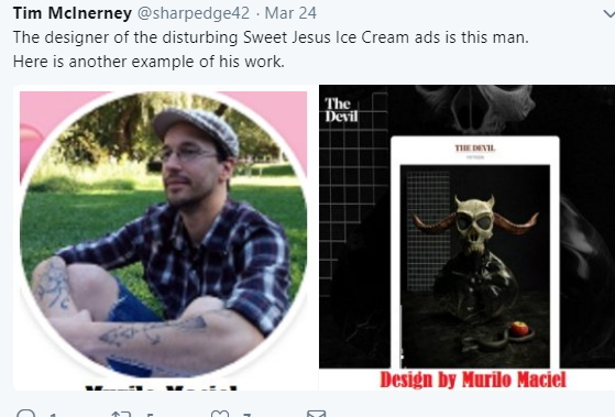 sweet jesus ice cream ad designer