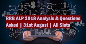 RRB ALP 2018 Analysis & Questions Asked | 31st August | All Slots