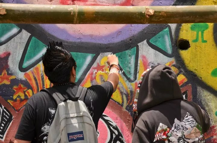 Tamawan Village Making of a Graffitti Mural Baguio City Philippines 7