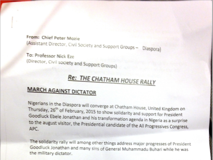 document anti buhari rally london