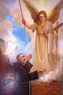 Resultado de imagen para san pio  y su angel de la guarda
