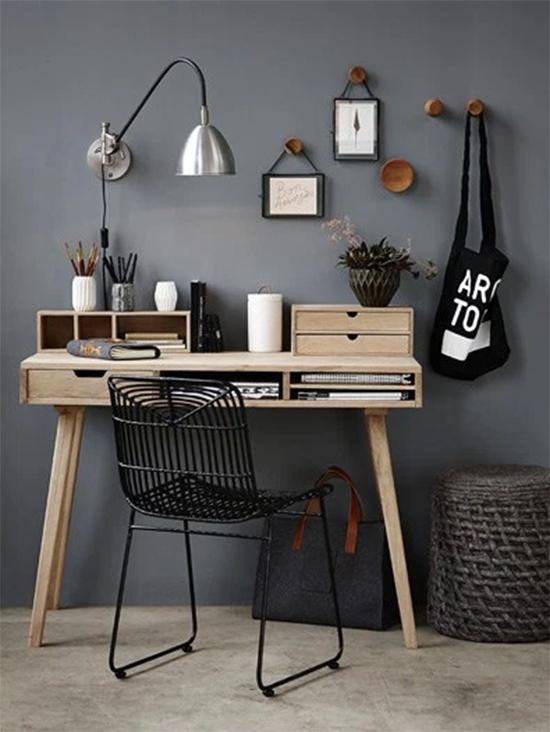 home office, a casa eh sua, acasaehsua, decor, home decor, interior, decoração, parede cinza