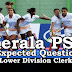 Kerala PSC - Expected/Model Questions for LD Clerk - 36