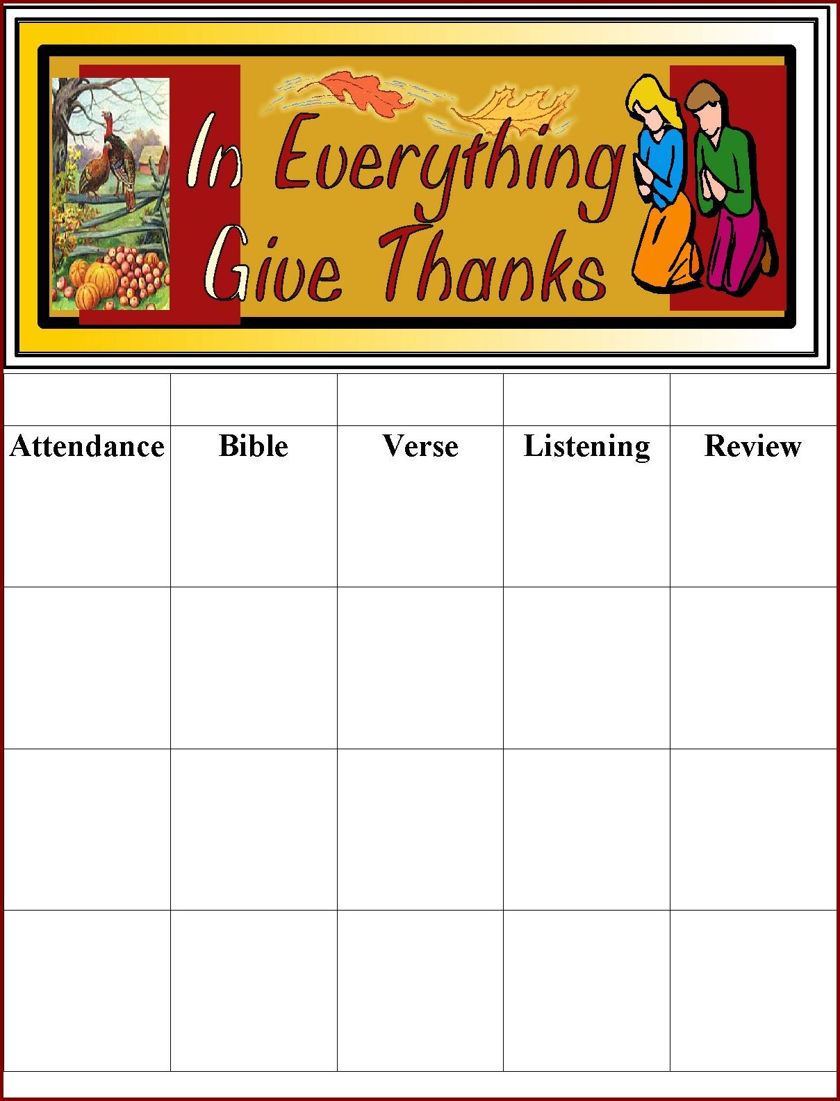 Children S Gems In My Treasure Box Thanksgiving Themed