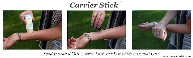 Carrier Stick, All Natural, Easy Essential Oil Base Application, reviewed by Devastate Boredom.