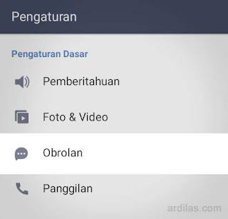 Tombol Obrolan - Cara Keluar (Log Out Sign Out) Dari Aplikasi Line - Android