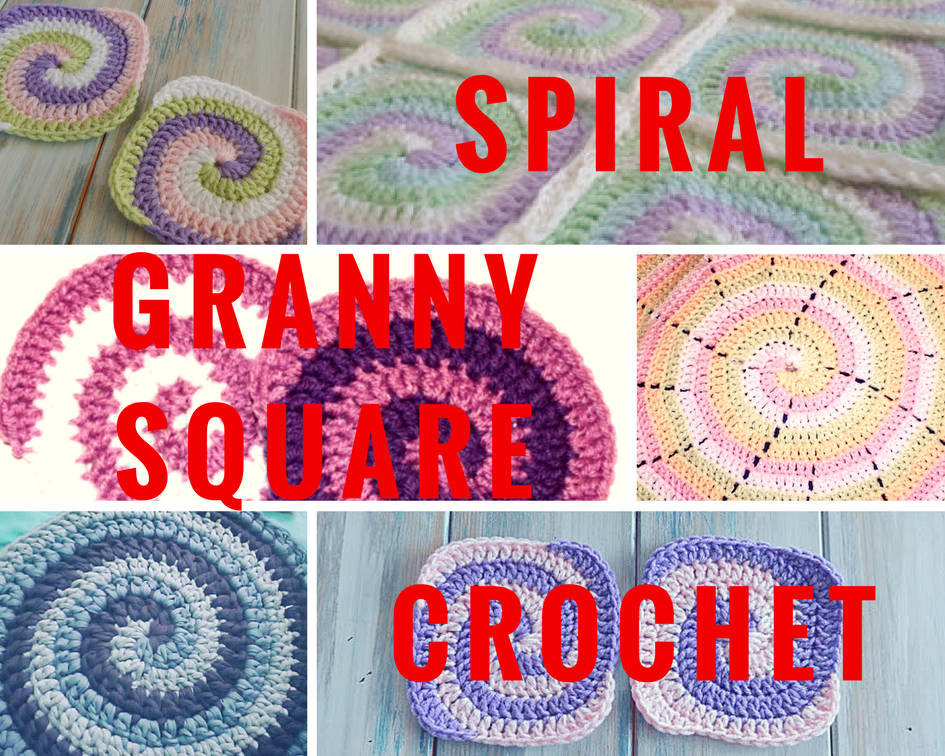Spiral Granny Square Crochet Video Tutorial And Pattern Crochet