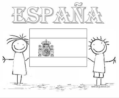 bandera española blogcolorear