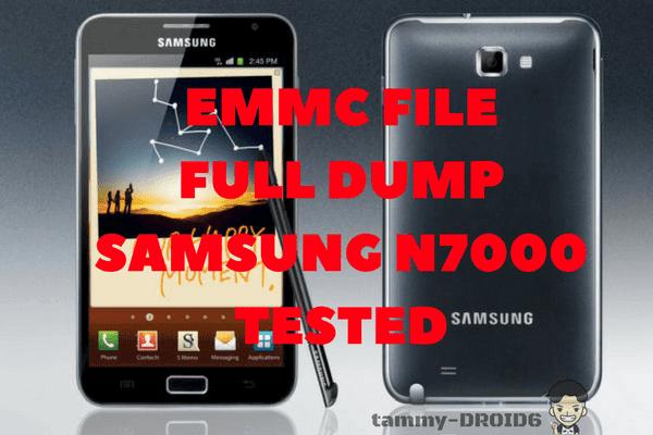 Full Dump File Emmc samsung Note I (N7000) Fix Baseband Null